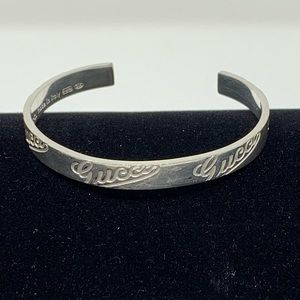 84f869535 GUCCI VINTAGE 1965 BANGLE STERLING SILVER (925)